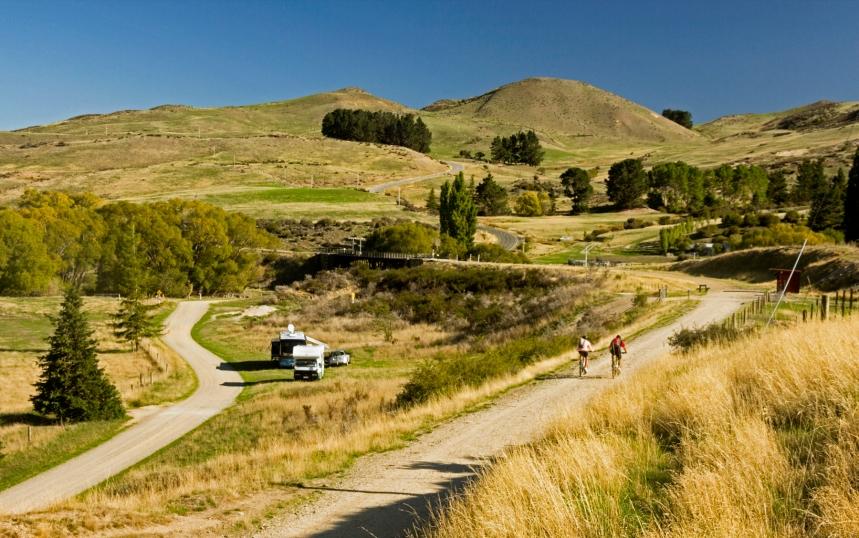 Cyclists Ride the Rail Trail