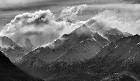 Windswept Cloudy Peak