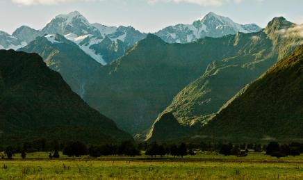 Mt Tasman and Aoraki from Lake Matheson