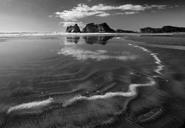 Foam Line Wharariki Beach