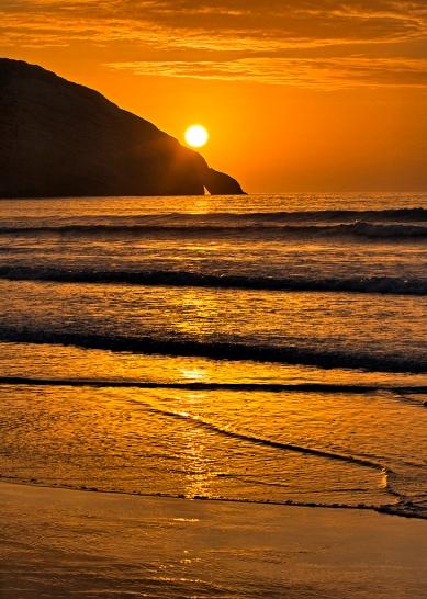 Sunset on Wharariki Beach