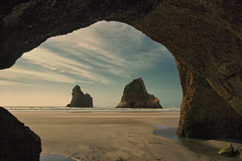 Cave Framed Archway Islands